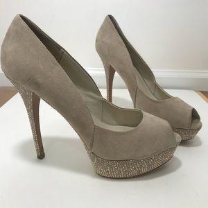 Dressy peep toe heels